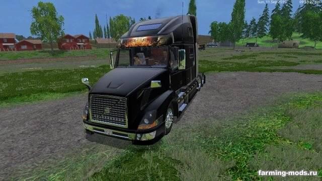 """Мод """"Прицепы и тягач Volvo Grave Digger v 1.0"""" для Farming Simulator 2015"""