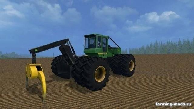 "Мод ""John Deere 748H v 1.1 Winch "" для Farming Simulator 2015"