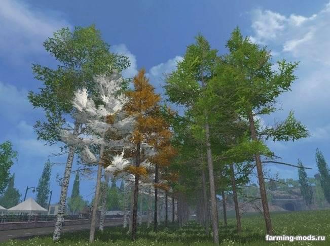 "Мод""Pack tree Seedlings"" для Farming Simulator 2015"