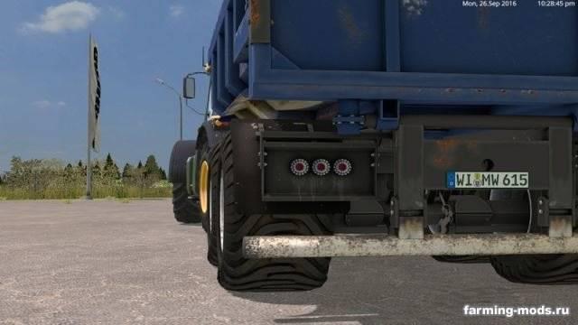 "Мод ""Hilken HI2250SMK green/blue v 1.0 Wiht WheelShader"" для Farming Simulator 2015"
