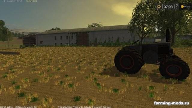 "Мод ""Mounted winch V 1.0"" для Farming Simulator 2015"