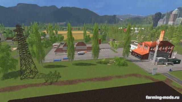 "Мод ""Карта Arens field v 5.0 Final Map"" для Farming Simulator 2015"