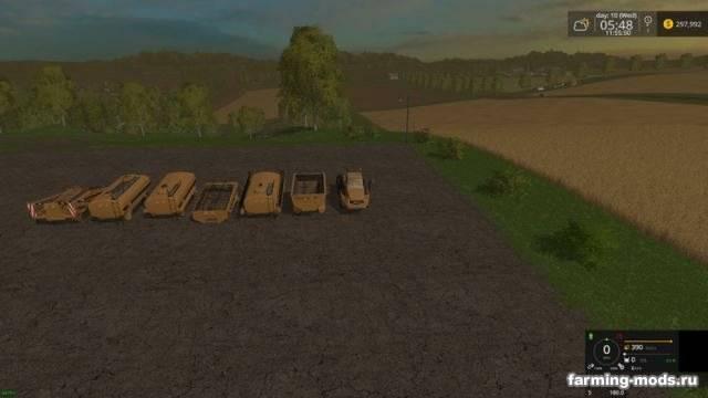 """Мод """"Cat 725A Pack v 2.5"""" для Farming Simulator 2015"""