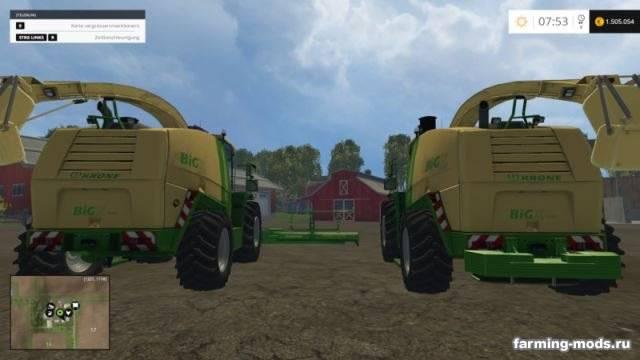 """Мод """"Krone Big X 1100 v 1.4"""" для Farming Simulator 2015"""