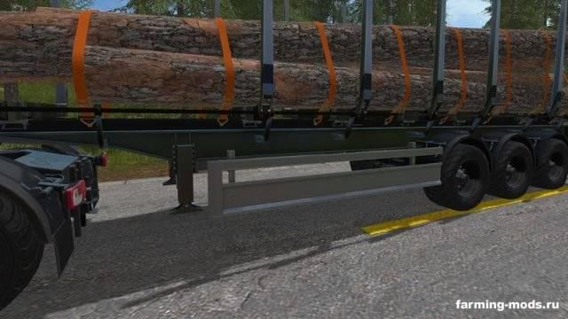 "Мод ""FLIEGL Timberkipper Wood-Trailer v 1.1"""