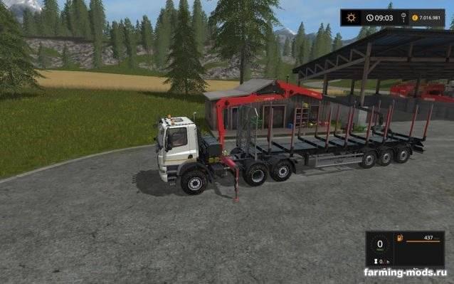 """Мод """"Tatra 6x6 wiht forestry crane v 1.0"""""""