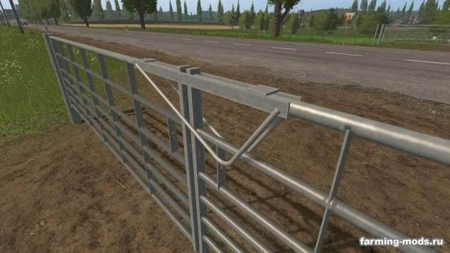 "Мод ""Animated Seven bar galvanized gates v 1.0"""