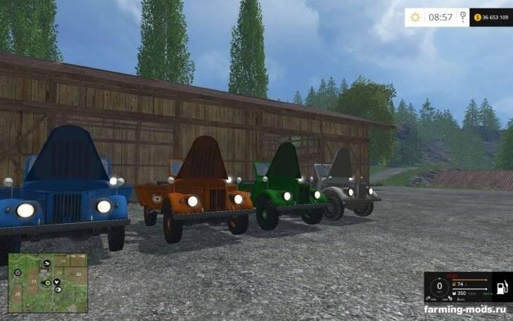 "Мод ""ГАЗ-69 v 2.0"" для Farming Simulator 2015"