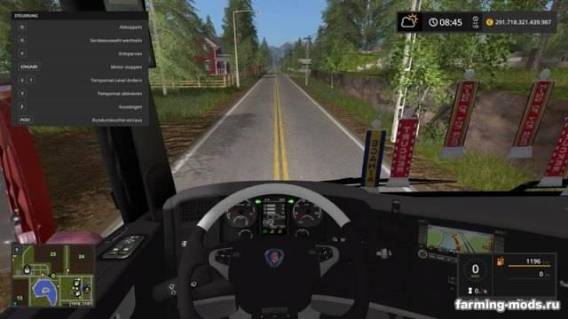 """Мод """"Scania V8 HKL v 1.0.2.0"""""""