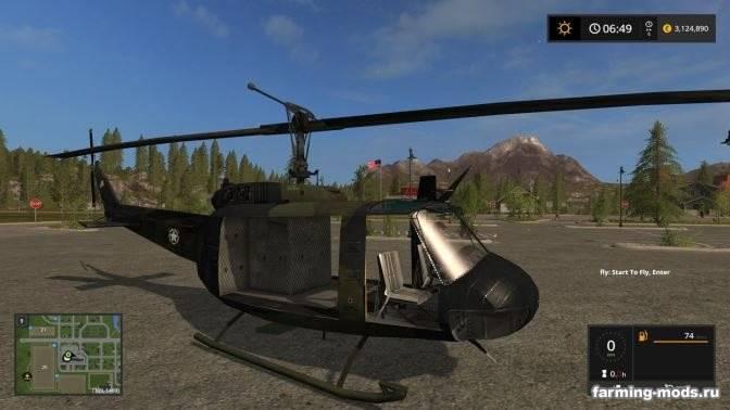 "Мод ""Вертолет Bell uh1d v 1.0"""