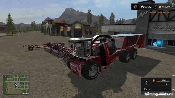 "Мод ""Читерский комбайн Krone Big X Cargo v 2.0"""