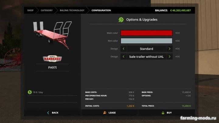 "Мод ""RANDAZZO Platform trailer PA 97P v 1.0.0.2 Автозагрузка"""