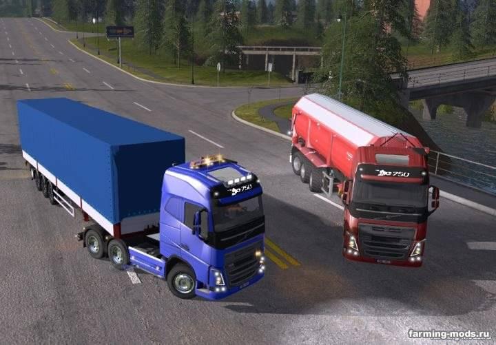 "Мод ""Volvo FH16 750 SWB (Short wheelbase) v 1.0"""