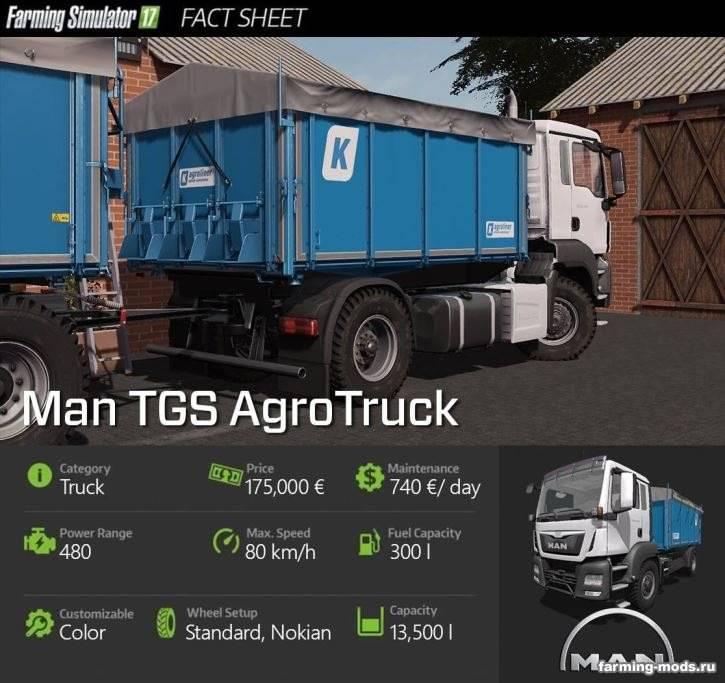 "Мод ""Man Agro Truck Pack v 1.1"""