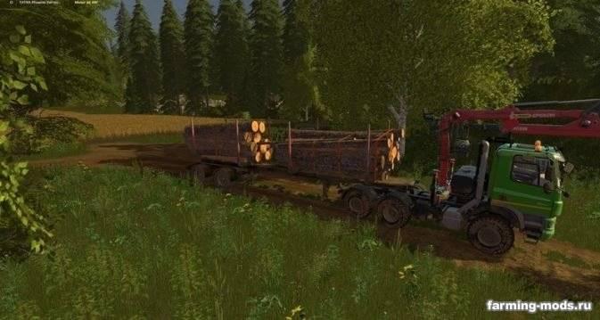 "Мод ""Пак Tatra Phoenix Agro Forest Truck + Fliegl Timber Runner v 1.0"""