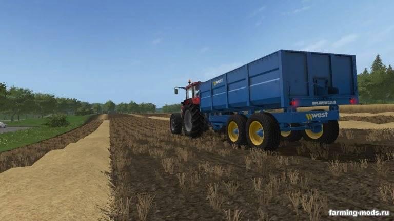 "Мод ""West 10T Grain Trailer v 1.1"""