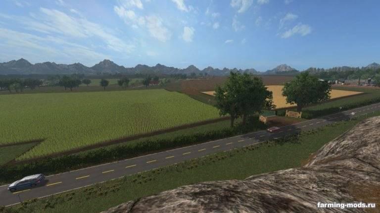 "Мод ""Карта Kcender Valley CoOp Farms v 1.0"""