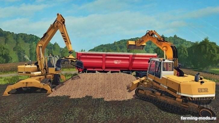 "Мод ""Excavator Liebherr 902 Pack v 1.0"""