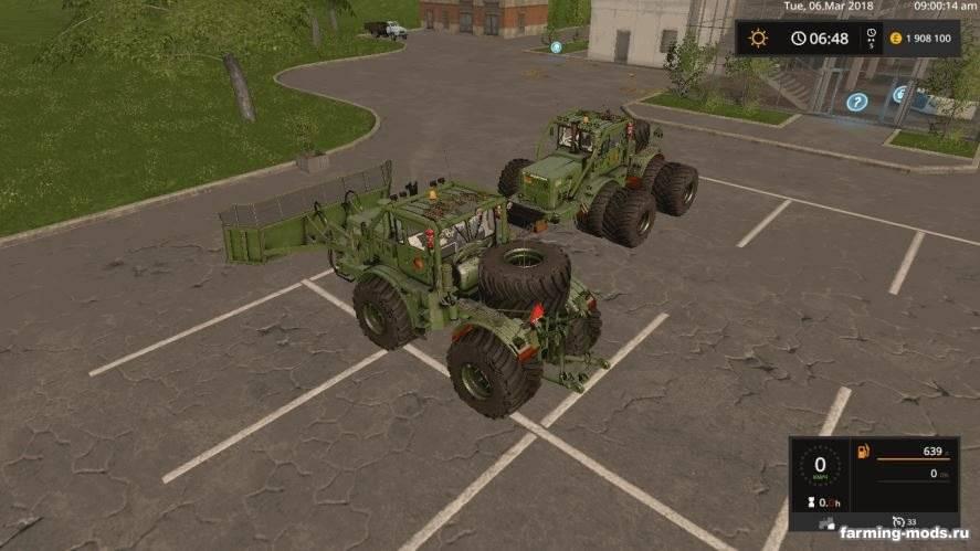 Мод Кировец К-701А и Отвал v 1.0.1.2 для Farming Simulator 2017