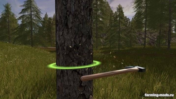 "Мод ""Топор - Wooden Chop Axe v 1.0"""