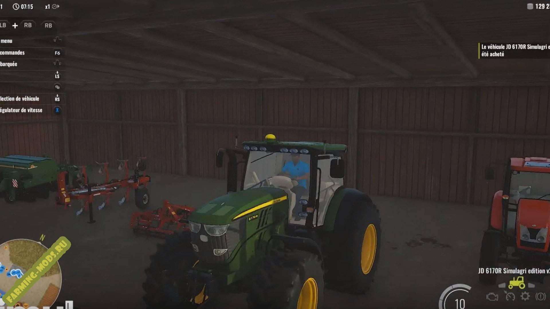 "Мод ""John Deere 6170 R"" для Pure Farming 2018"