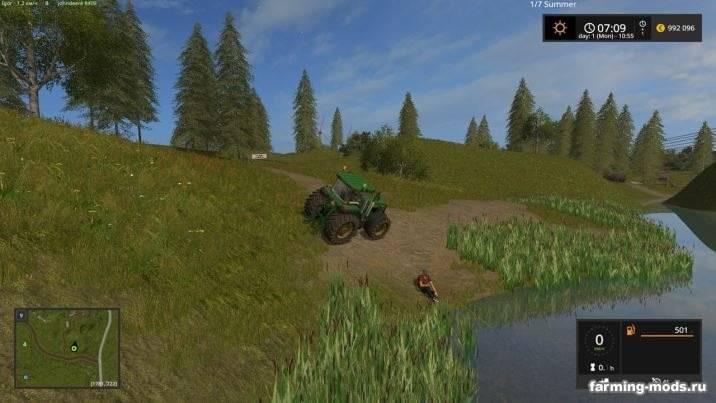 Мод Русская карта село Курай v 1.5.3 для Farming Simulator 2017