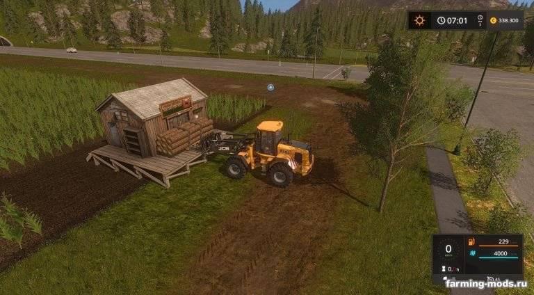 Мод Kaster Wood Inc. Holz Ohne Arbeit v 2.0 для Farming Simulator 2017
