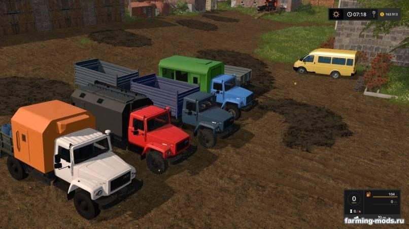 Мод ГАЗ-3308 Садко v 2.0 для Farming Simulator 2017