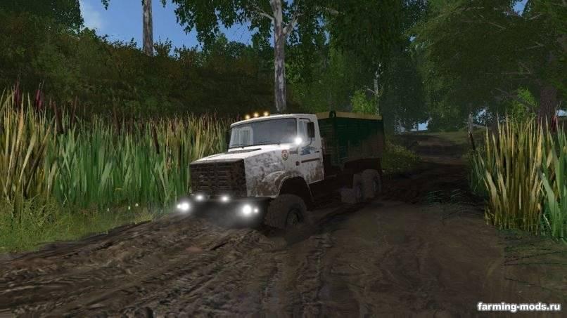 Мод Зил-4334 Фермер с прицепом v 1.1 для Farming Simulator 2017
