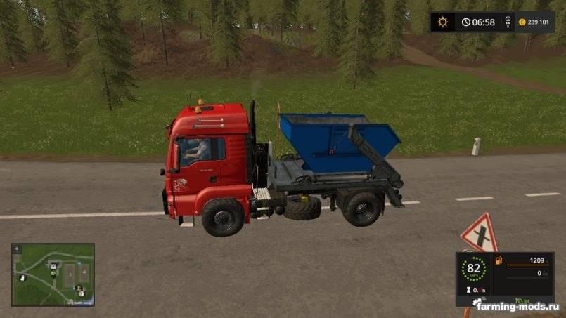 Мод MAN Skip Truck with Container v 1.0 для Farming Simulator 2017
