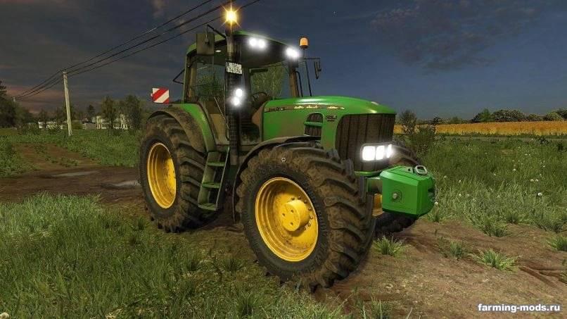 Мод John Deere 7430/7530 v 4.1 для Farming Simulator 2017