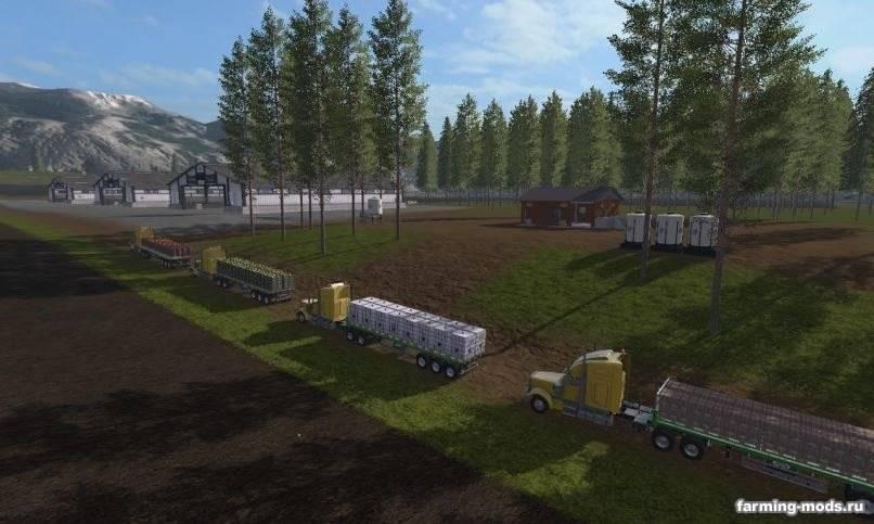 Мод Карта River Pine Acres v 2.0 RUS для Farming Simulator 2017