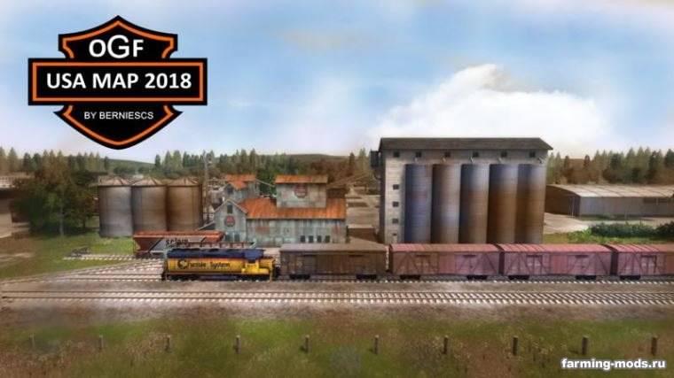 Мод Карта OGF USA Map 2018 v 3.0 для Farming Simulator 2017