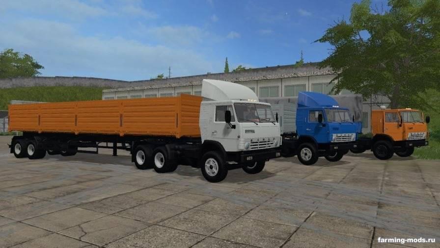 Мод Пак КамАЗ-5410 и НефАЗ-93344 v 2.0 для Farming Simulator 2017