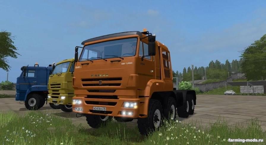 Мод Пак Камаз-65226 и 65228 v 1.1 GearBox для Farming Simulator 2017