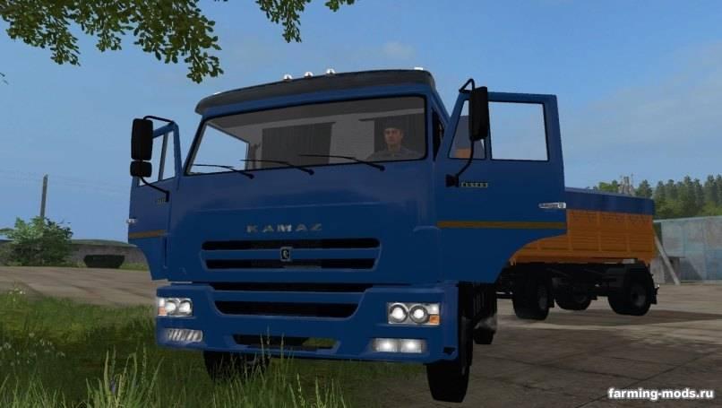 Мод КамАЗ-45143-6012 и Нефаз-8560-02 v 2.0 Gear Box для Farming Simulator 2017