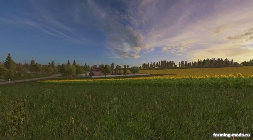 Мод Карта Золотой колос v 1.0.4.0 для Farming Simulator 2017