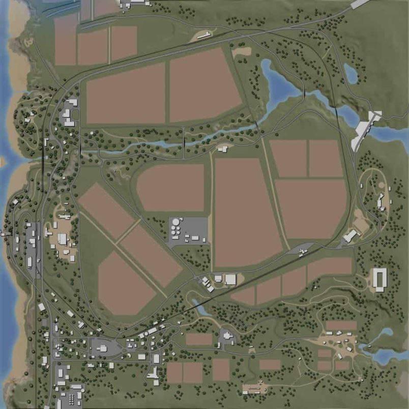 Мод Карта Ravenport (American Map) v 1.0 For Edit для Farming Simulator 2019