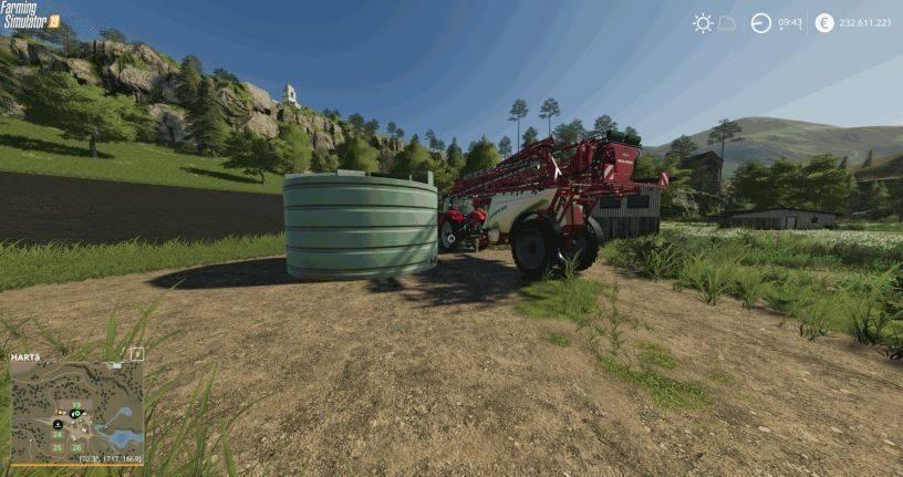 Мод Placeable Liquid Fertilizer Tank v 1.0 для Farming Simulator 2019