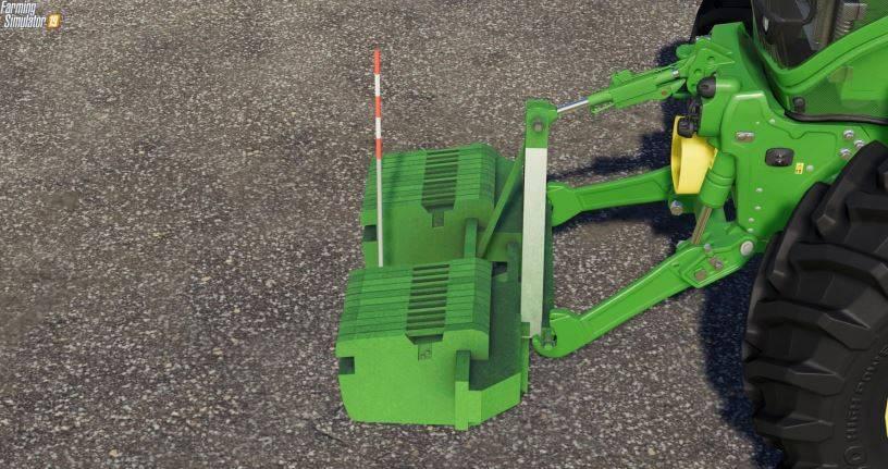 Мод John Deere Double Weight v 1.0 для Farming Simulator 2019
