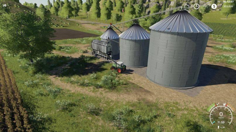 Мод Large Grain Silo v 1.0.1.0 для Farming Simulator 2019