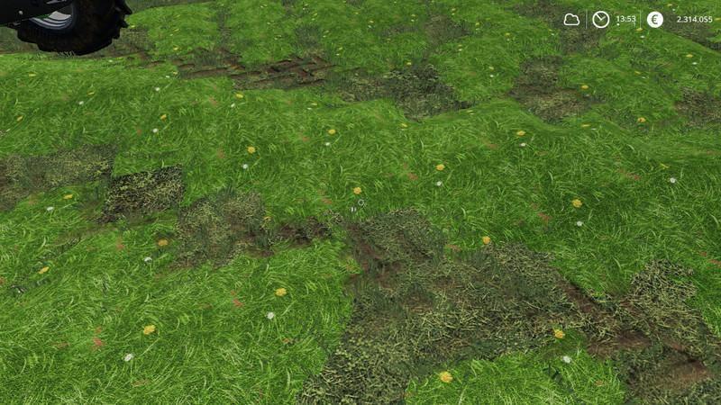 Мод Текстуры травы v 1.0 для Farming Simulator 2019