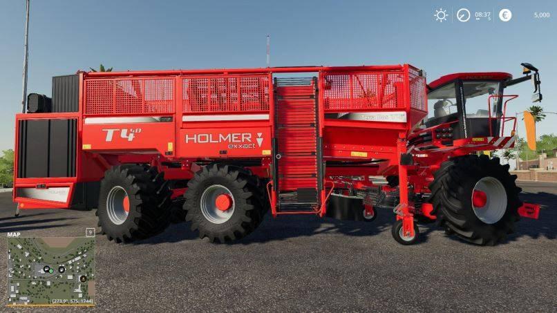Мод Holmer T4-40 Potatos und SugarBeet v 1.6 для Farming Simulator 2019