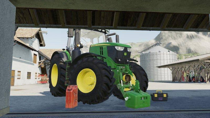 Мод John Deere 6R v 1.0 для Farming Simulator 2019
