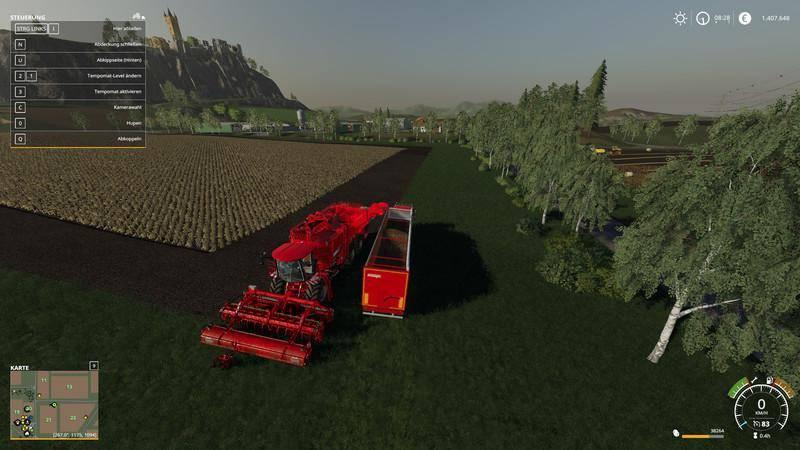 Мод Terra Dos T4-40 and Holmer HR-12 cutting unit (potato only) v1.0 для Farming Simulator 2019