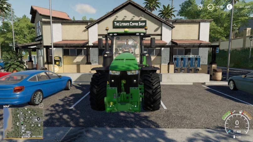 Мод John Deere 8R chip Engine v 1.0 для Farming Simulator 2019