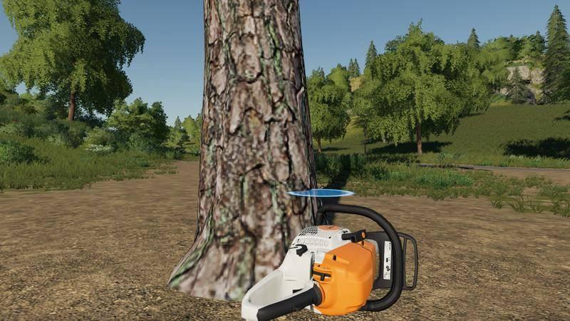 Мод Покупаемое дерево - сосна v 1.0 для Farming Simulator 2019
