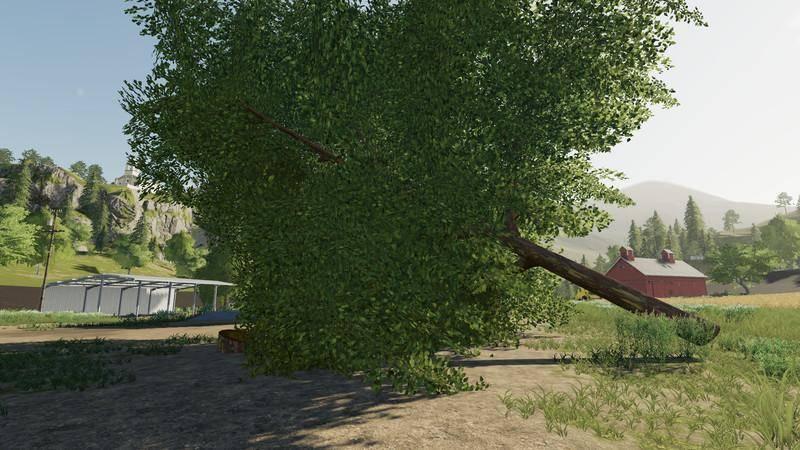 Мод Покупаемое лиственное дерево - Deciduous tree placeable v 1.0 для Farming Simulator 2019