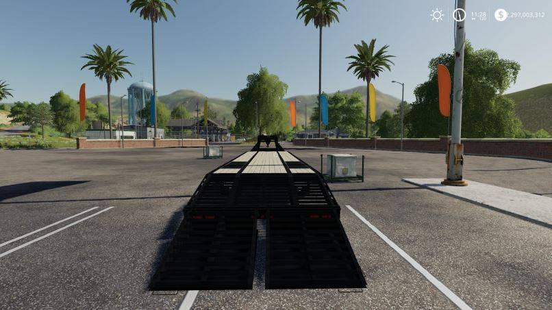 Мод 40FT PJ Gooseneck Trailer v 1.0для Farming Simulator 2019