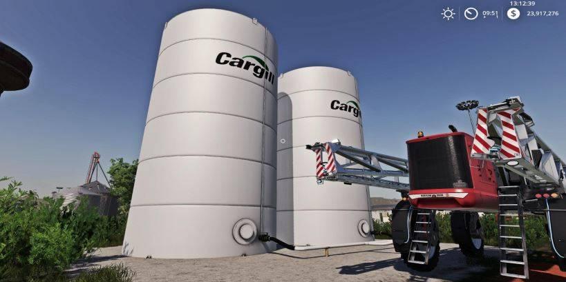 Мод Placeable Cargill Liquid Fert Refill Tanks v 1.0 для Farming Simulator 2019